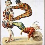 Clowns acrobatic