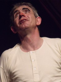 Tony as Dan Leno in shirt