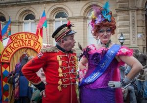 Uncle! & Mysti at Saltaire Fetstival with The Imaginarium