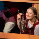Clare as Cinderella in the pit