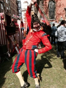 Tony as Mr Punch at Covent Garden