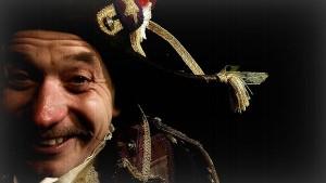 Tony as Raree Man close up with hat