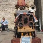 handstand on the peepshow cart