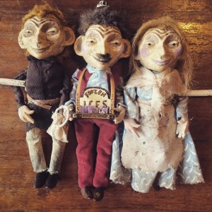 three puppets