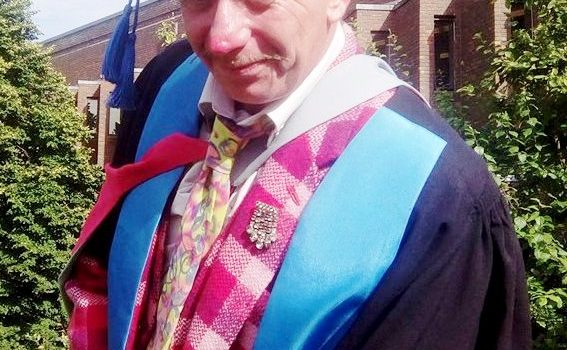 Tony Lidington receives his PhD,  May 2017