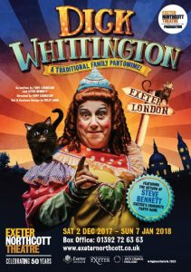 Dick Whittington Pantomime flyer front page