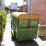 Raree Man Peepshow travelling Trailer