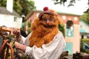 The Raree Man as The Giant in Jack & the Beanstalk