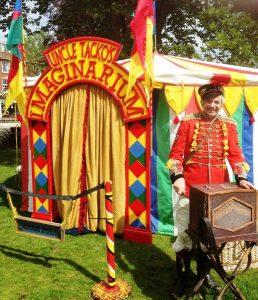 Uncle Tacko, his barrel organ & The Imaginarium